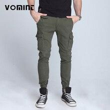 Vommint pantalon slim élastique pour homme, nouveau, pied fermé, pantalon militaire tactique pour hommes, salopette Cargo multi poches (sans ceinture)