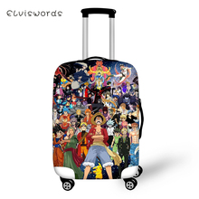 ELVISWORDS Cartoon Protective Suitcase Cover Death Notes Elastic Dust-proof Waterproof One Piece Luggage Accessories