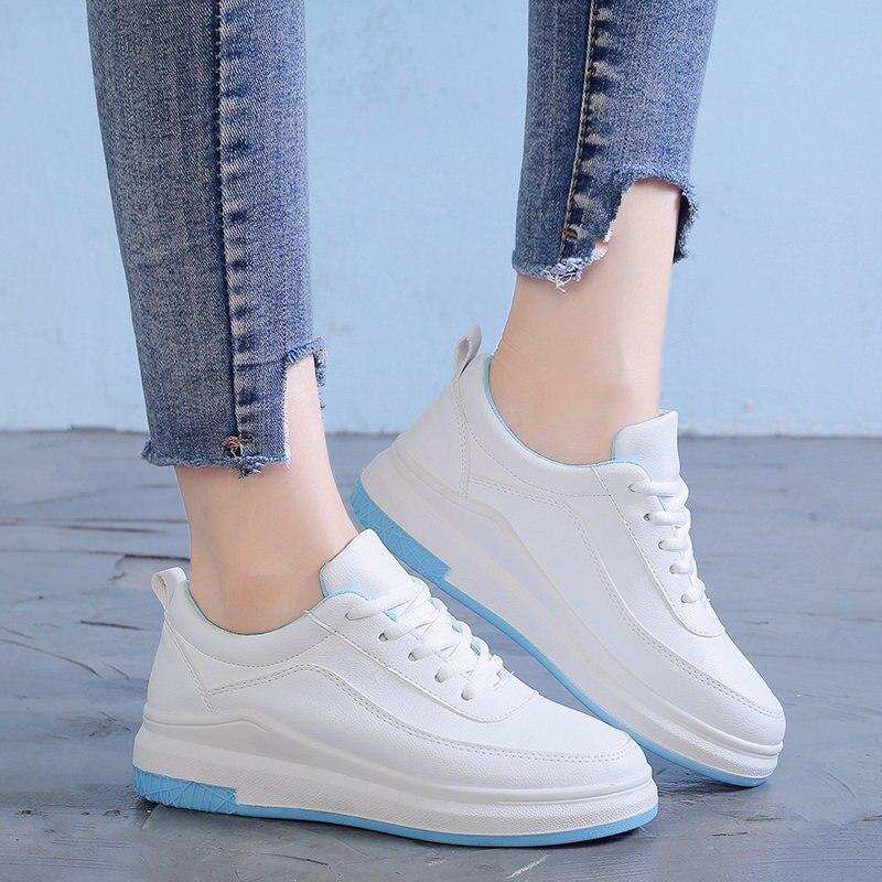 Noir Chaussures Ciel pu Simple Et Confortable Plates Version Coréenne rose Nouvelle Étudiant Tendance Polyvalent De qwPfROU0
