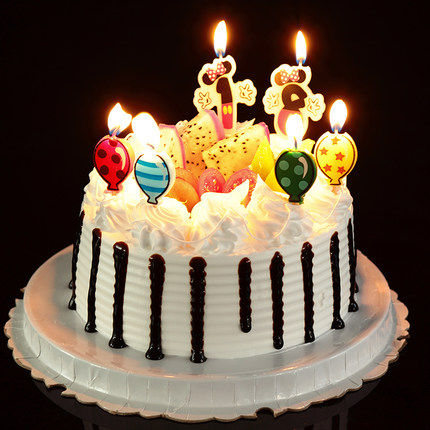 Birthday Candle Mickey Minnie 0 1 2