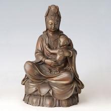ATLIE BRONZES Bronze buddha statue Guanyin  KWAN-YIN Bless Your Kid Chinese Buddha sculpture home decor