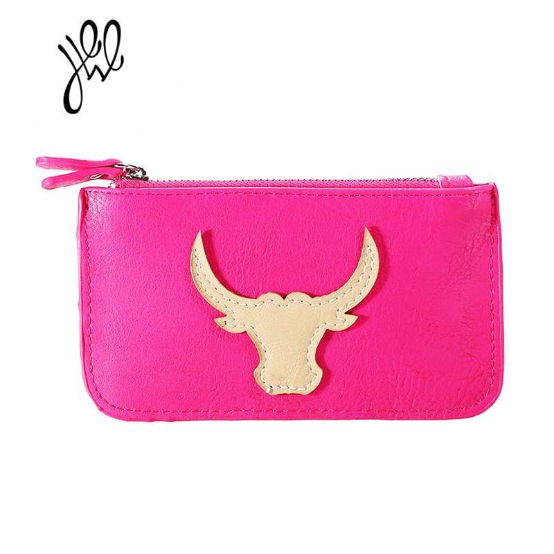 Brand Designer Wallet Bullhead Pattern Wallet Girls Soft Purses PU Leather Lady Coin Purses Mini Holder Women Key Pouch 500552 new brand mini cute coin purses cheap casual pu leather purse for coins children wallet girls small pouch women bags cb0033