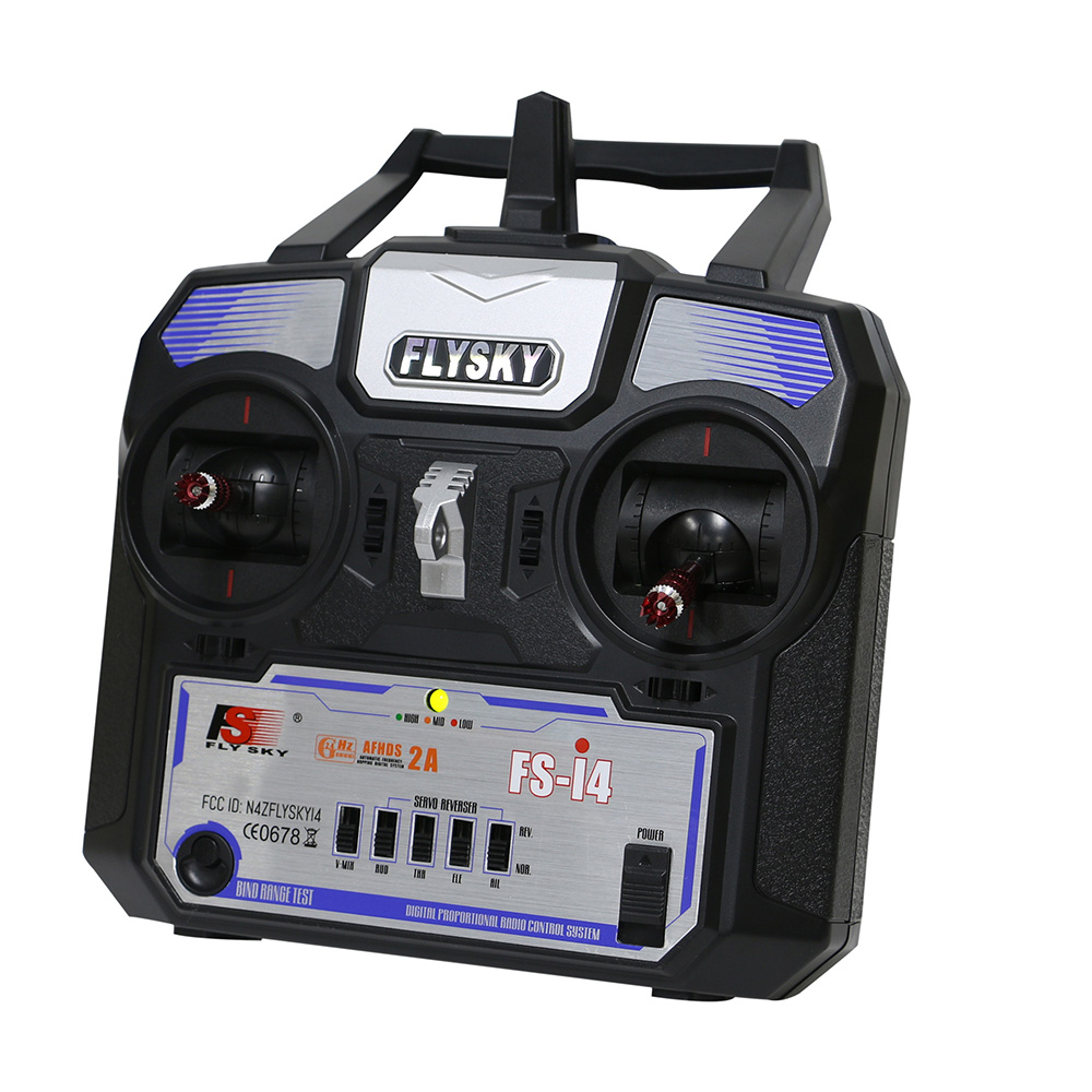 Image 3 - Fly Sky FS i4 Airplane Remote Controller 2.4GHz 4CH Radio System RC Transmitter for Helicopter Glider FS A6 Receiver Drop Ship-in Parts & Accessories from Toys & Hobbies