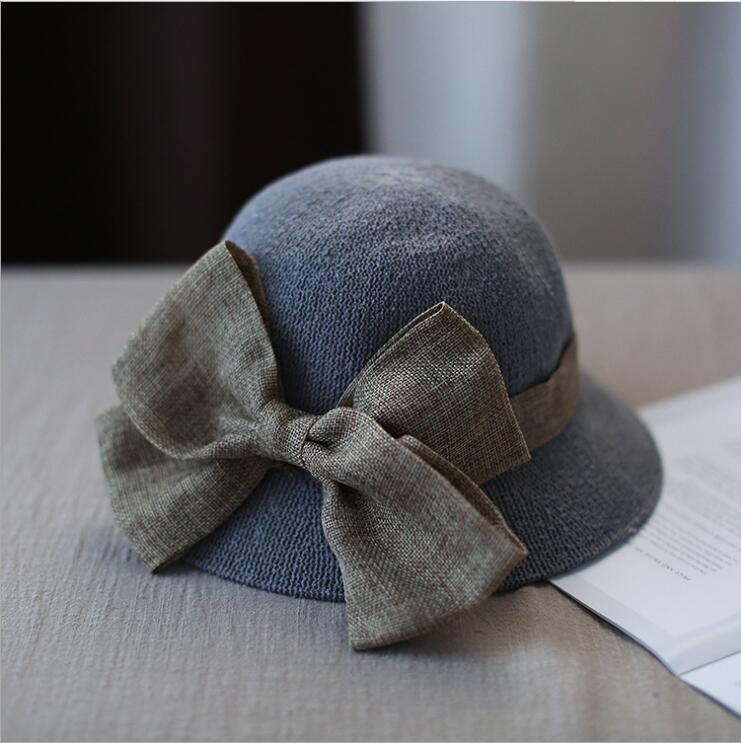 c6714eb97db 2018 Women s Sun Hat Big Bow Wide Brim Floppy Summer Hats For Women ...