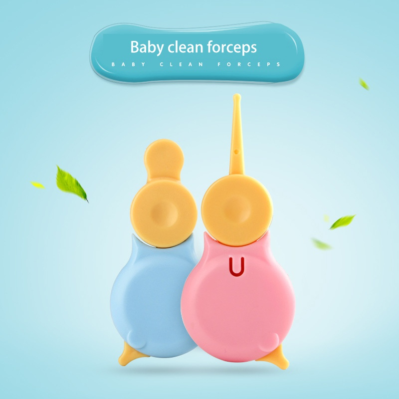 Newborn Ear Nose Cleaner Snot Safety Care Cleaning Clip Baby Safe Cleaning Tweezers Can Be Split For Baby Cleaning Tool Suit