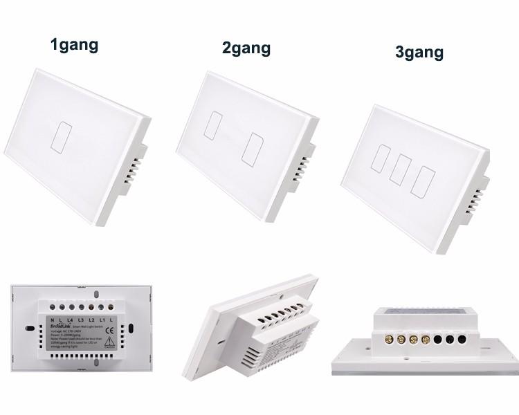 2018 Broadlink TC2 US/AU version 1 2 3 Gang WiFi Accueil automatisation Intelligente Télécommande Led Lumière Switche Tactile Panneau via RM Pro + 13
