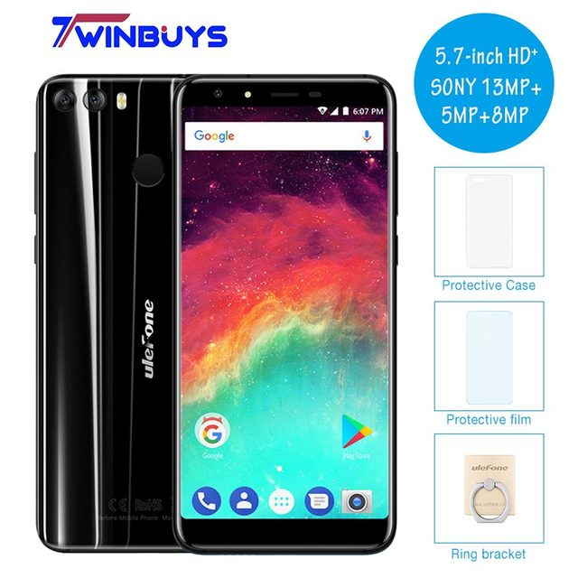 "Ulefone MIX 2 5.7"" HD+18:9 Screen MT6737 Quad Core Cellphone Dual Rear Camera 2GB 16GB Android 7.0 3300mah 4G LTE Mobile Phone"