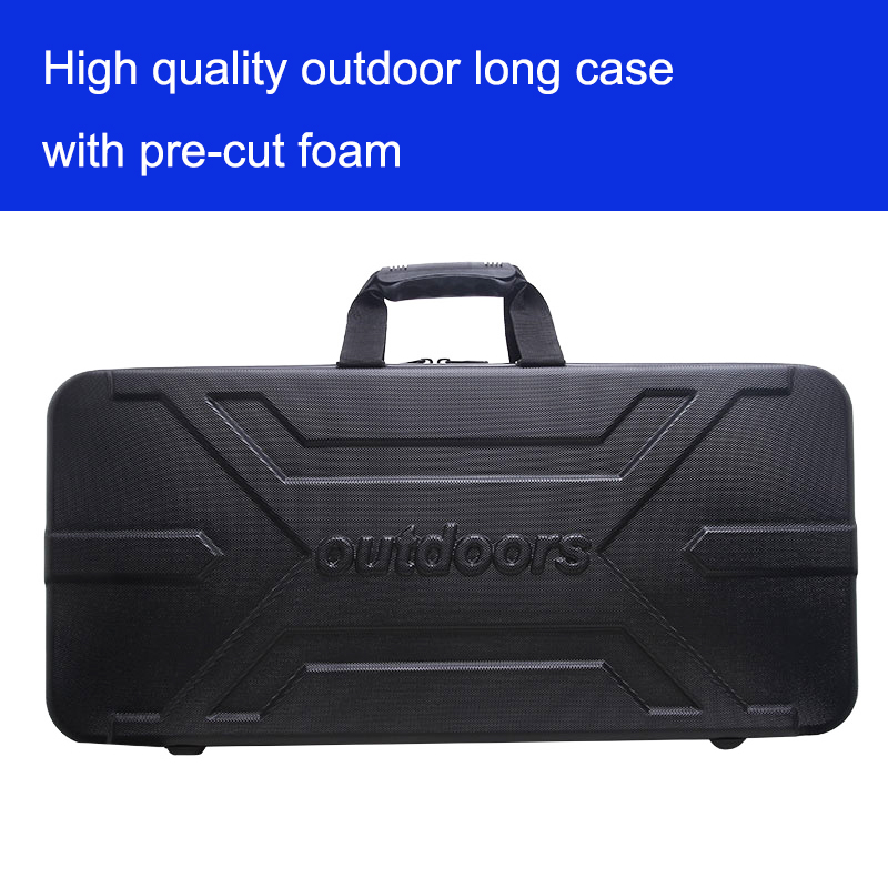 outdoors Tool case long case luggage special luggage box plastic toolbox safety box suitcase with foam lining gun case