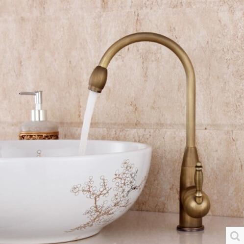ФОТО  High Quality Ant-bronze Classic New Bathroom Basin Faucets Deck Mounted Antique Bathroom Sink Mixer torneira cozinha