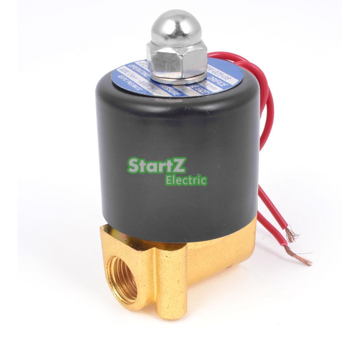 1/8 Electric Solenoid Valve Water Air N/C Gas Water Air 2W025-06 DC12V DC24V AC110V AC220V 3 8 electric solenoid valve water air n c all brass valve body 2w040 10 dc12v ac110v