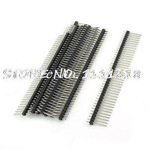 10 piezas 2x40 Pin sola fila de Pin para montaje en PCB conector con paso de 2mm