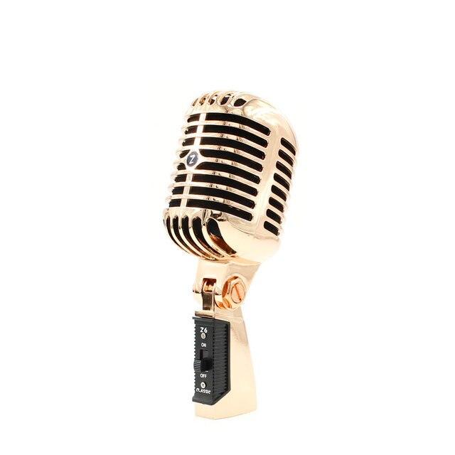 Microphone professionnel rétro haut-parleur Jazz/blues Microphone avec maille métallique classique dynamique Microphone de cabine de mariage
