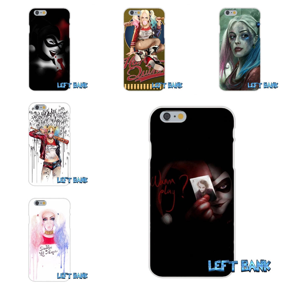 Suicide Squad Harley Quinn Soft Silicone TPU Transparent Cover Case For iPhone 4 4S 5 5S 5C SE 6 6S 7 Plus