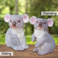 Resin Simulation Animal Koala Figure Decoration Garden Home Decor Yard Ornaments 17x13.5x21cm Realistic Creative Craft Gift