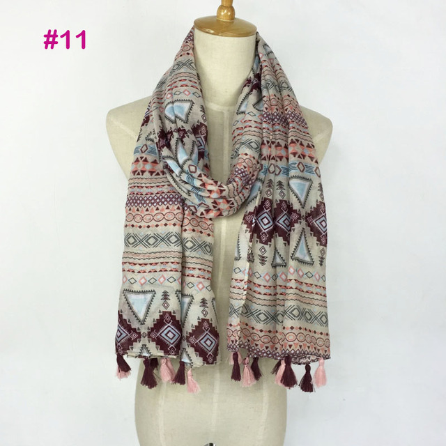 2017 Spring Autumn New Design Ethnic Style Voile Cotton Women Thin Long Shawl Scarf Woman Big Size Pashminas Wrap Hijab