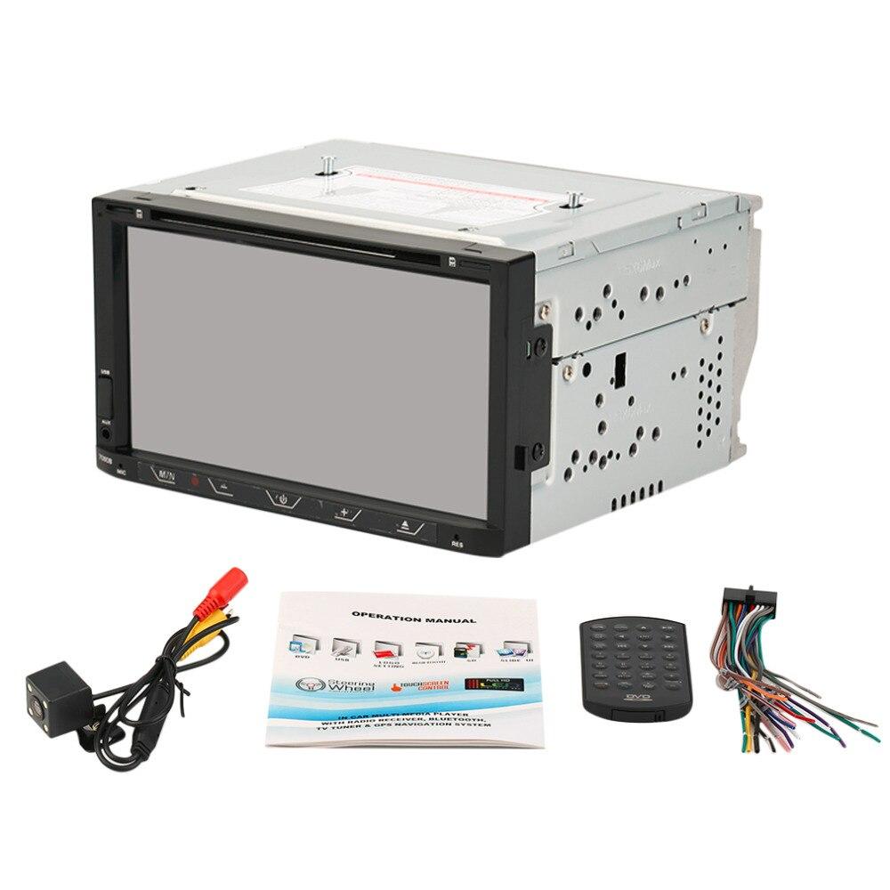 7-дюймовый 7080B Профессиональный Сенсорный экран двойной DIN bluetooth для автомобилей авто автомобиля mp3/mp5-видео-плеер Поддержка FM-БТ ТФ USB Радио