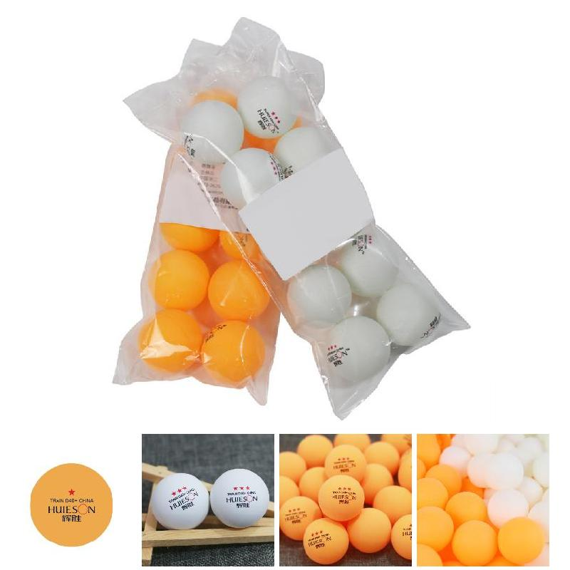 10pcs White & Orange Color PingPong Table Tennis Balls Professional For Training Competition Sports Use BB55