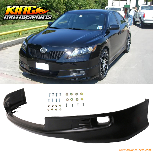 For 2007 2009 08 Toyota Camry Oe Factory Se Style Front Per Lip Spoiler Unpainted Pu