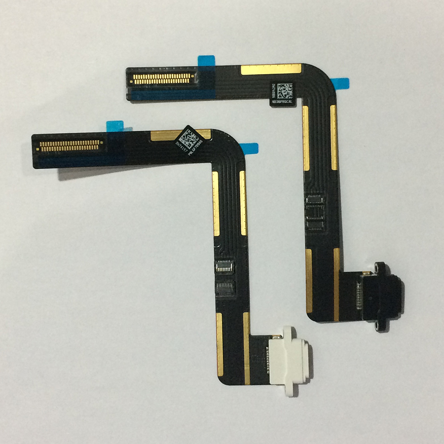 Image 2 - 10PCS For iPad 5 Air Original USB Charging Connector Dock Charger Port Flex Cable Ribbon Black / White Replacement Repair Parts-in Mobile Phone Flex Cables from Cellphones & Telecommunications on
