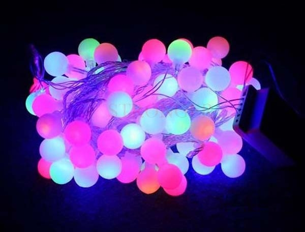 10m 100 Matte Plasma Balls RGB LED Light String Strip Fairy Lights For  Wedding Xmas Party