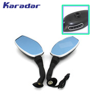 Motorcycle Rear View Mirror DVR Recorder Blue Glass Anti Dazzling 1080p Camera 8mm Screw 2 4