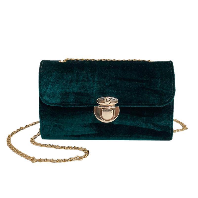 5814d5996d2c Transer Retro Gold Velvet Crossbody Bag Women Elegant Long Chain Shoulder  Bag Messenger Bags Female Tote Vintage Handbags A11 30
