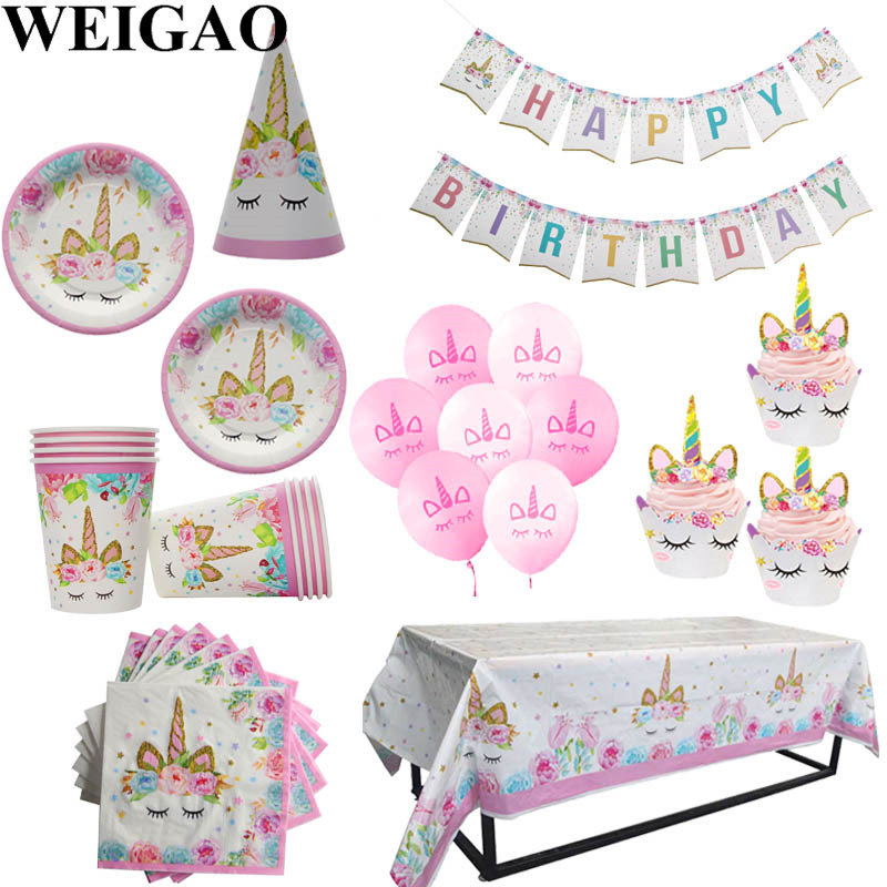 Home & Garden Event & Party Reasonable 57pcs/lot Cake Dishes Paper Cups Paper Napkins Table Cloth 57pcs/lot Kids Boy Pink Crown Theme Cartoon Birthday Party Plate Beautiful In Colour