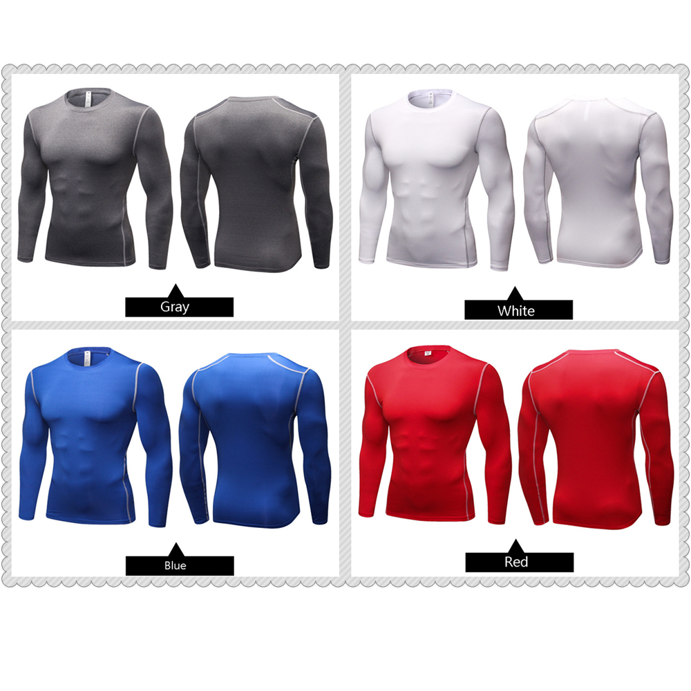 Image 4 - Yuerlian Long Sleeve Men shirt compression sports TShirt Fitness Man T Shirt dry fit running training GYM tops for male-in Running T-Shirts from Sports & Entertainment on AliExpress