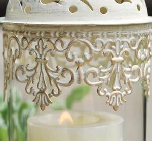 Image 5 - 1 pçs birdcage ferro castiçal suporte de vela de vidro lanterna europa marroquino oco castiçal suporte casa decoração do casamento