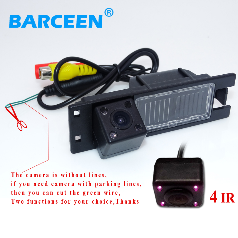 Car  Rear Reversing  Camera Wire Auto Use For Opel Astra H /Corsa D/ Meriva A /Vectra C/Zafira B/FIAT Bring 4 Ir Lights