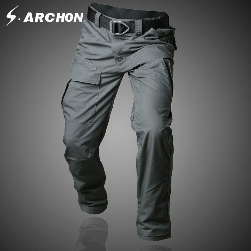 S. archon D'été tactique armée camouflage multi-poches mince pantalon Respirant résistant aux Rayures et étanche