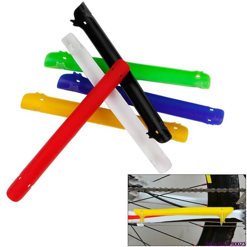 البلاستيك دراجة الدراجات دراجة الإطار سلسلة البقاء حامي عصا غطاء حماية جديد