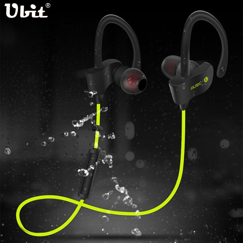 Ubit 56S Wireless Bluetooth Earphone Sports Sweat proof Stereo Earbuds Headset Dalam Telinga Fon telinga dengan MIC untuk iPhone & Smartphone