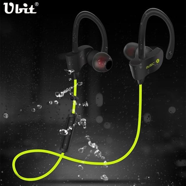 Ubit 56S Wireless Bluetooth Earphone Sports Sweat proof Stereo Earbuds Headset In-Ear Earphones with Mic for iPhone & Smartphone