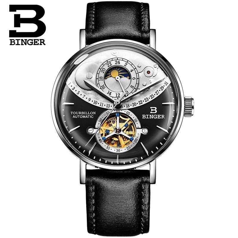 스위스 시계 남자 binger 자동 기계 남자 시계 럭셔리 브랜드 사파이어 relogio masculino 방수 남자 시계 B 1 3-에서기계식 시계부터 시계 의  그룹 2