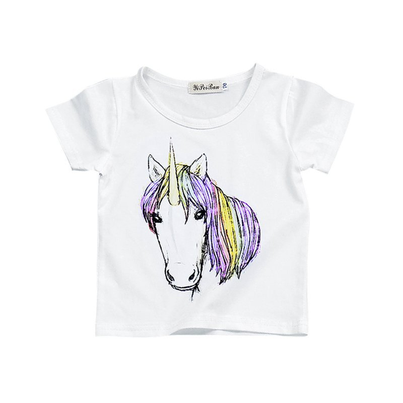 WINXINBUY Cute Childrens Clothing Cartoon Kids T-Shirt Clothes Short Sleeve Girl Boy Clothe