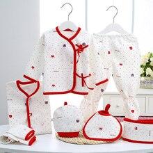 Sada novorozených oděvů Baby Girls Boys Oblečení Roztomilé nové značky Dětské dárkové kojenecké bavlněné kreslené spodní prádlo (5ks / set) (7ks / set)