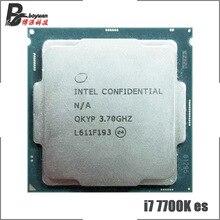 Intel Core i7 7700K ES i7 7700K ES QKYP 3.7 GHz dört çekirdekli sekiz iplik CPU İşlemcİ 8M 91W LGA 1151