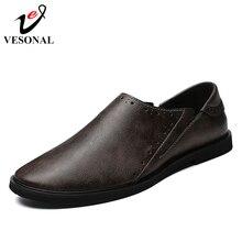 022cecf3f244 VESONAL Marke Echtem Leder Mode-Business Männlichen Für Männer Schuhe  Erwachsene 2018 Herbst Lässige Loafers