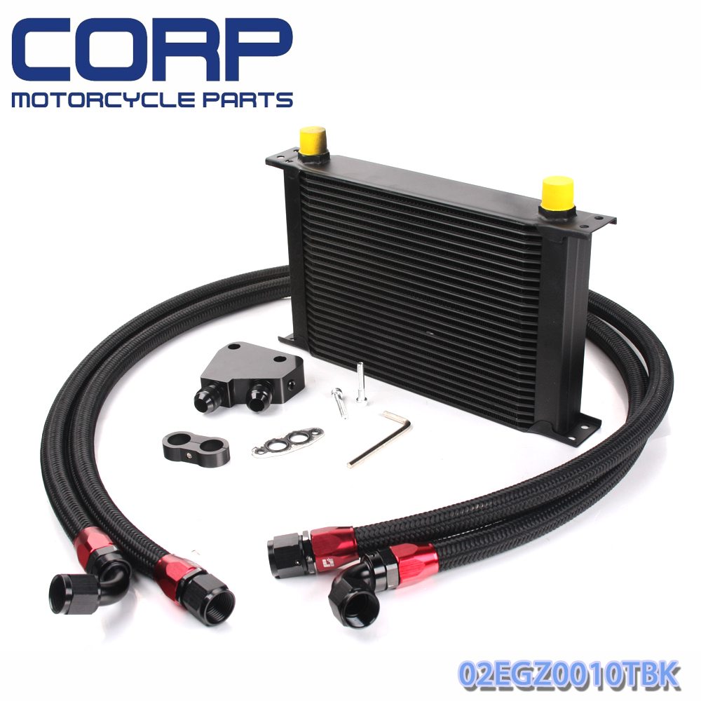Universal 25 Row JDM Engine Oil Cooler Kit + Sandwich Plate fit for LS1 LS2 LS3 отвертка с трещоткой и битами truper jdm 24 25 предметов