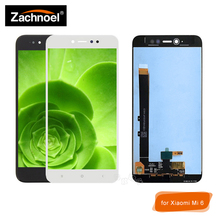 цены на Full LCD for Xiaomi Mi6 Mi 6 LCD Display with Touch Screen Digitizer Glass Panel Assembly Complete White Black Replacement  в интернет-магазинах