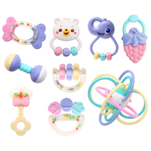 New 6 24 Months Baby Mobile Plastic Rattles And Teether Set Educational Baby font b Toys