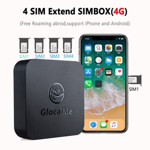 Image 1 - Multi 4 SIM Dual Standby No Roaming 4G SIMBOX for iOS Android No Need Carry Work with WiFi Data to Make Call & SMS for iOS 8 12