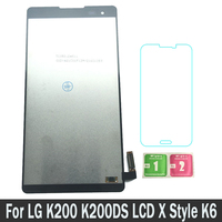 100% Tested New Replacement Parts LCDs Display For LG K200 K200DS LG K200DS LCD X Style K6 LCD Touch Screen Digitizer Assembly