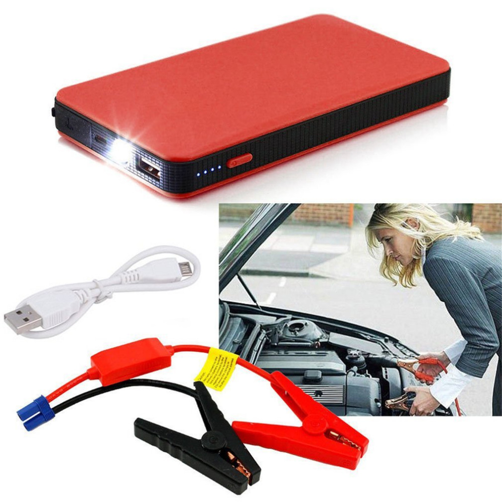 2018 Universal Hot 5 Colors 8000mAh 12V Multifunctional Car Jump Starter Power Booster Battery Emergency Charger Drop Shipping