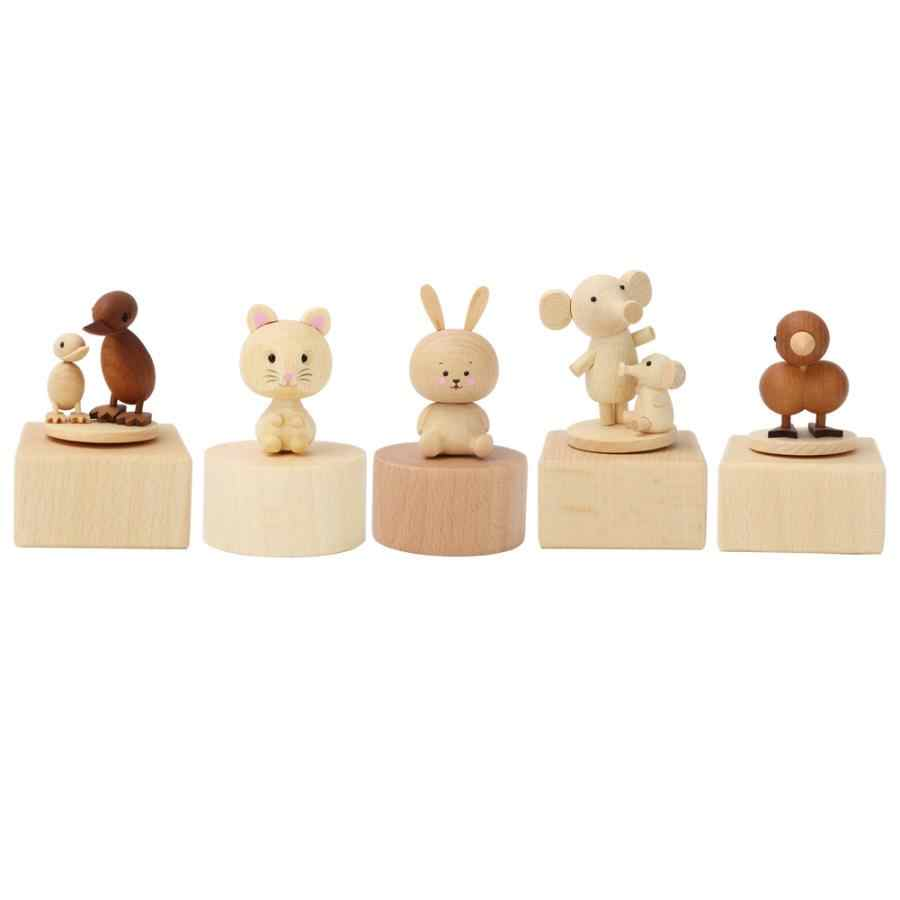 Hot Kawaii Musical Boxes Wooden Music Box Wood Crafts Retro Birthday Gift Children Vintage Home Decoration Accessories