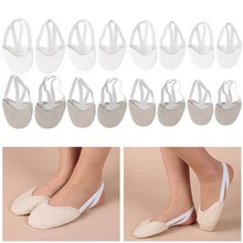Half Faux Leather Sole Ballet Pointe Dance Shoes Rhythmic Gymnastics Slippers(China)
