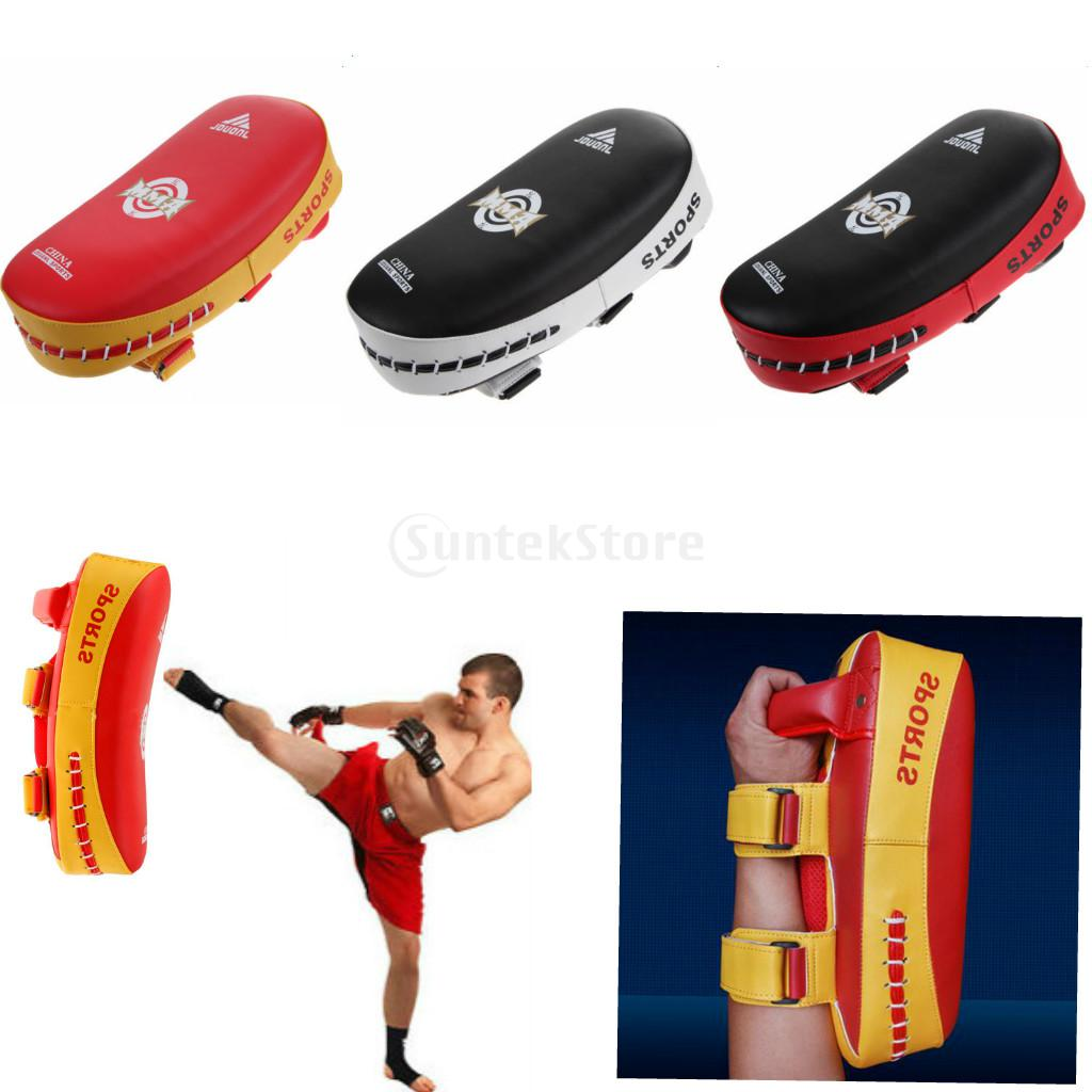 Home 48* 28* 10cm Kick Boxing Pads Strike Curved Arm Pad Boxing Mma Focus Muay Punch Shield Mitts