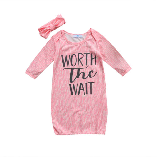 0-18 Mt Neugeborenen Kind Swaddle Wrap Rosa Farben Briefe Decke Baumwolle Schlafsack + Stirnband 2 StÜcke Set Um 50 Prozent Reduziert