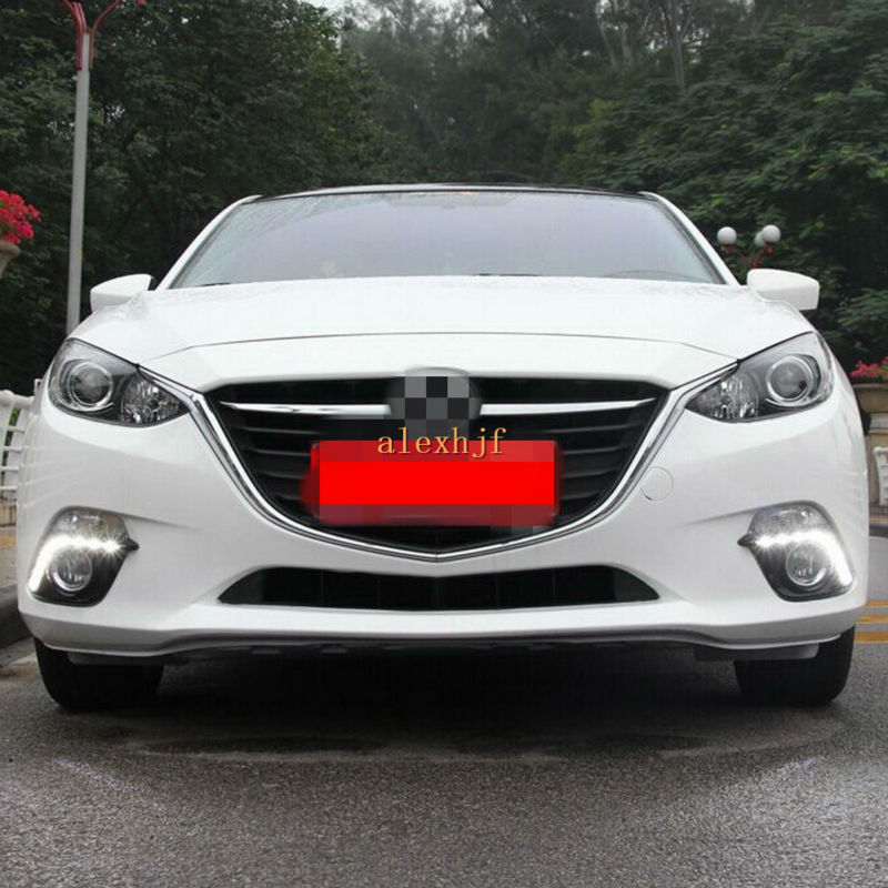 Yeats LED Daytime Running Lights DRL with Fog Lamp Cover, LED Fog Lamp Case for Mazda 3 Axela 2014~2016, 1:1 Replacement yeats led daytime running lights drl led fog lamp case for subaru forester 2013 16 deluxe edition 1 1 replacement fast shipping